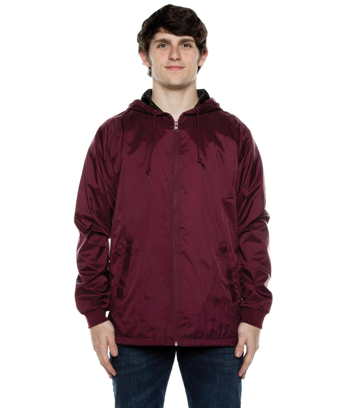 Coaches Hooded Full Zip Jacket w/Rib