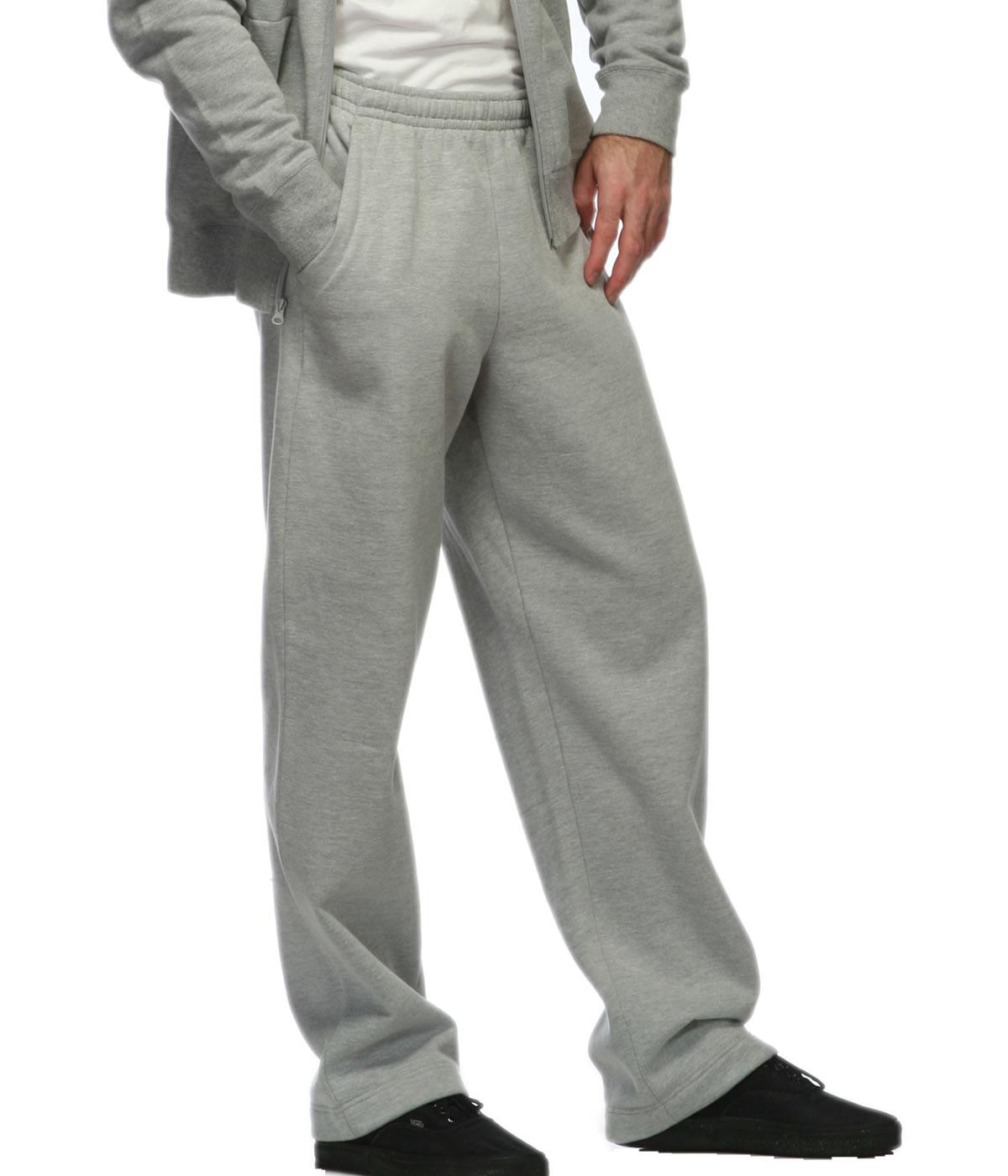 Side Pocket Sweatpants Open Bottom