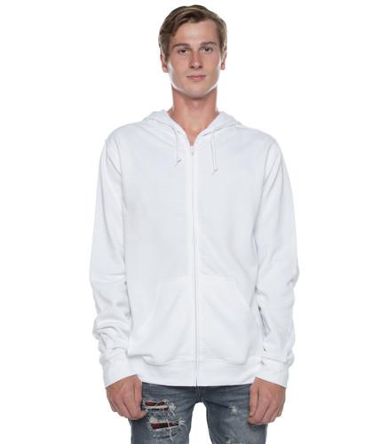 Basic Zip Hoodie White