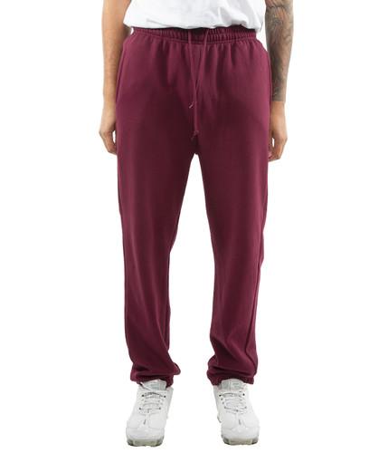 Elastic Bottom Sweatpants Maroon