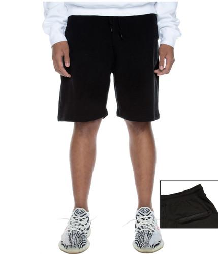 Fleece Sweat Short Black