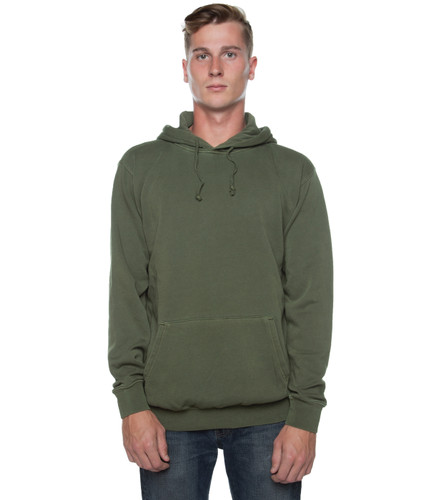 Pigment Dyed Basic Hoodie Green