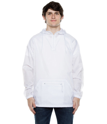 Nylon Packable Pullover White